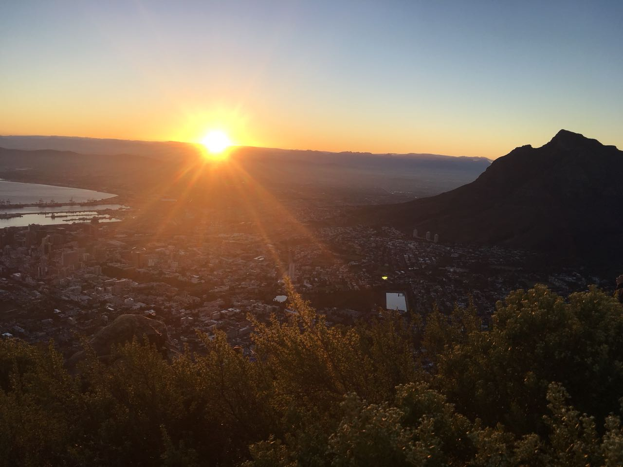 Sunrise from Lions Head