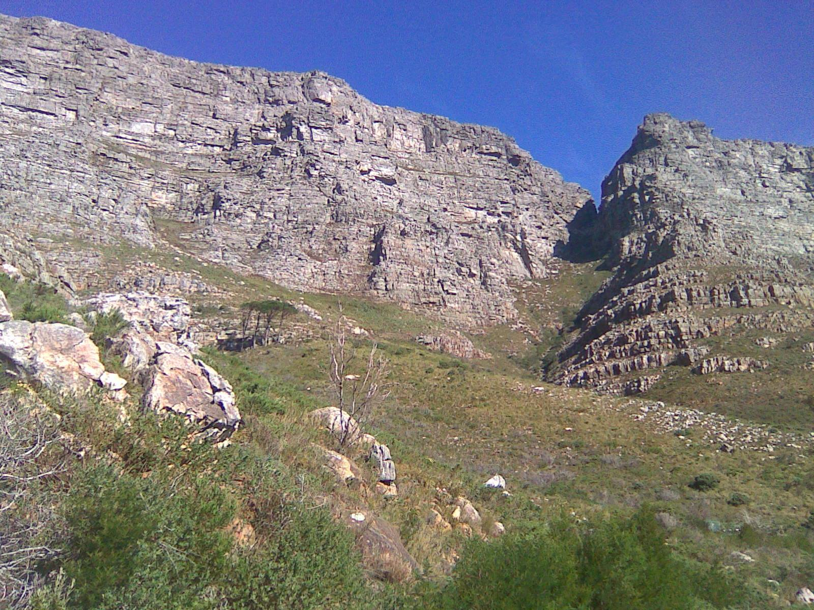 Platteklip Gorge, going up Table Mountain