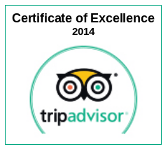 Trip Advisor Certificate of Excellence 2014 to Table Mountain Walks
