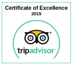 Trip Advisor Certificate of Excellence 2015 to Table Mountain Walks